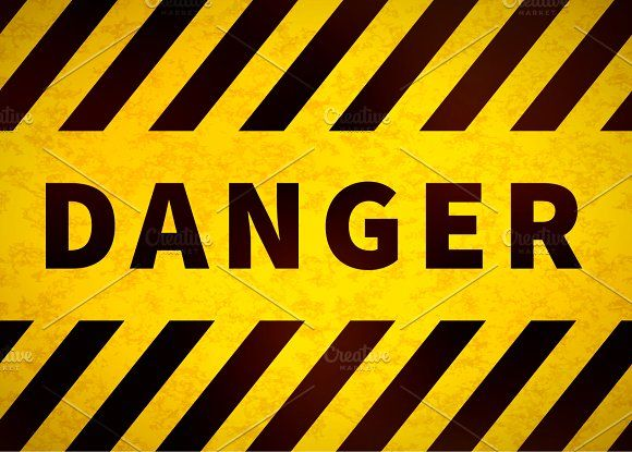 Danger sign, old warning plate by BestPics on @creativemarket