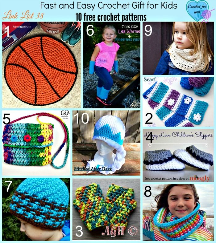 Fast and Easy Crochet Gift for Kids - 10 free crochet ...