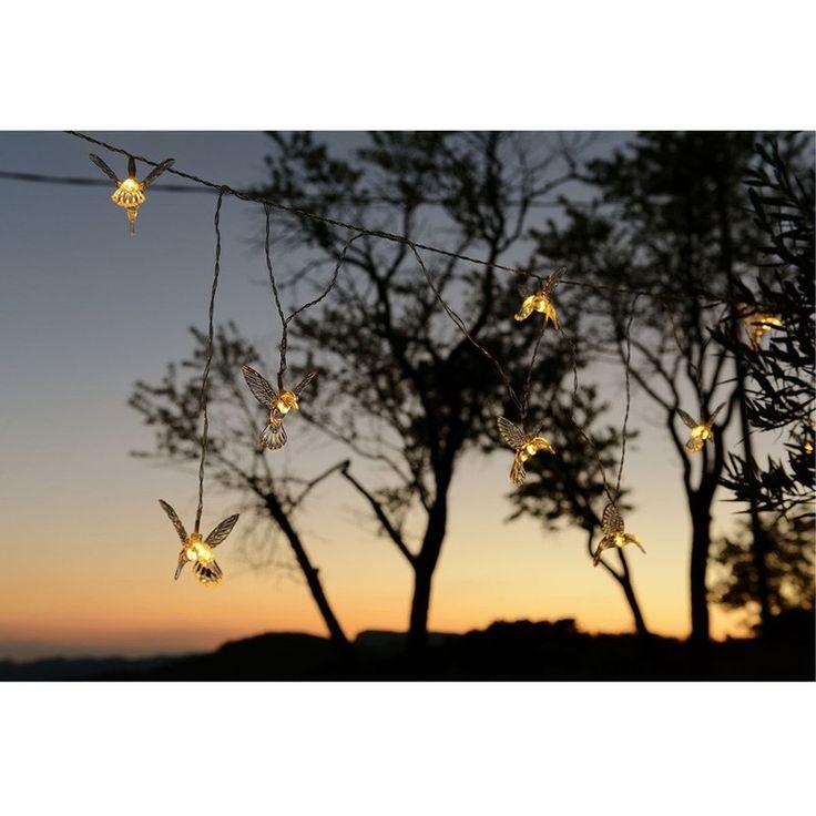 Guirlande solaire 8 décorations Colibri - 3 m - BLJF043 - Luminaire