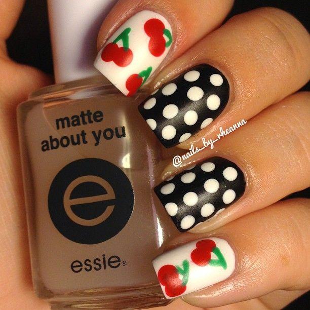cherry by    nails_by_rheanna #nail #nails #nailsart