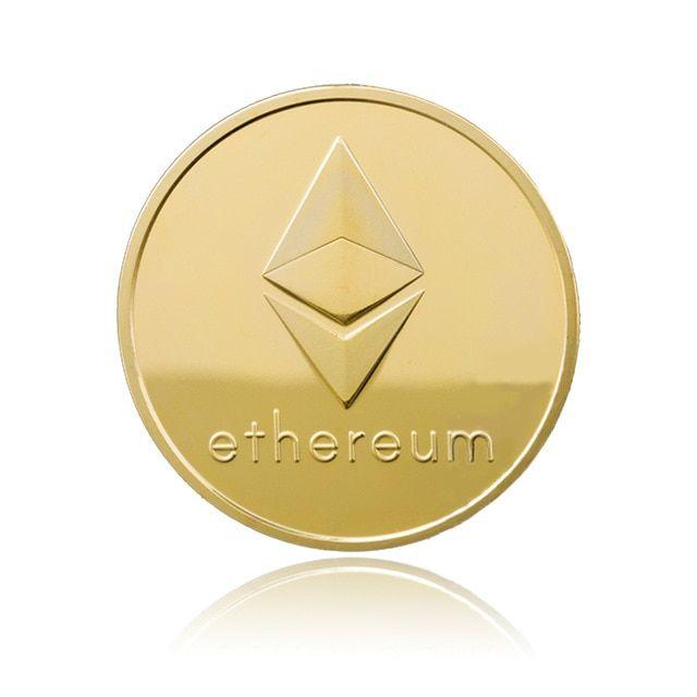 1pc Gold/Silver Ethereum Coin bitcoin Replica Gift Physical