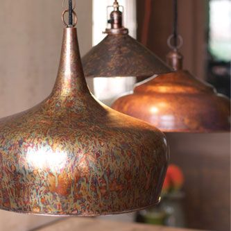 Antique Rust Tear Drop Pendant by Barn Light Electric... This probably doesn't fit anywhere, but I do like this pendant.