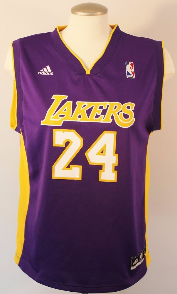 Kobe Bryant #24 Los Angeles Lakers Youth Sz L Purple Swingman Adidas Jersey NBA #adidas #LosAngelesLakers