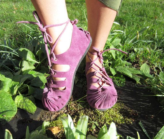Pixie Sandals Leather Hippy Psytrance Festival Boho Ethnic Party Wear