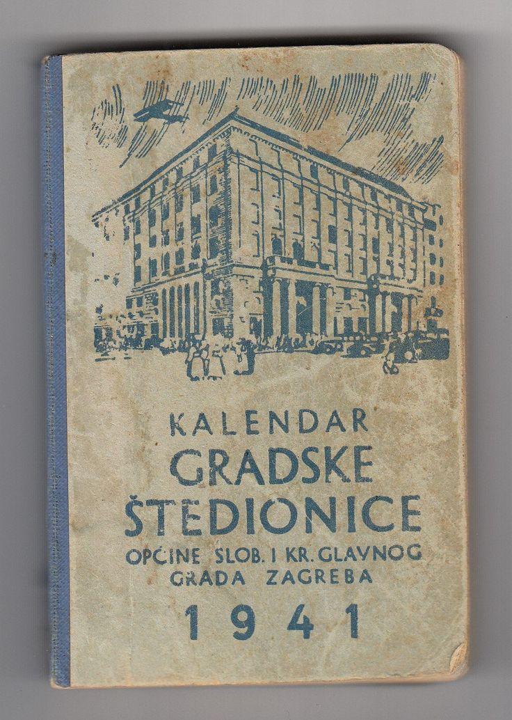 Vintage Calendar 1941. Zagreb Croatia, Banovina of Croatia