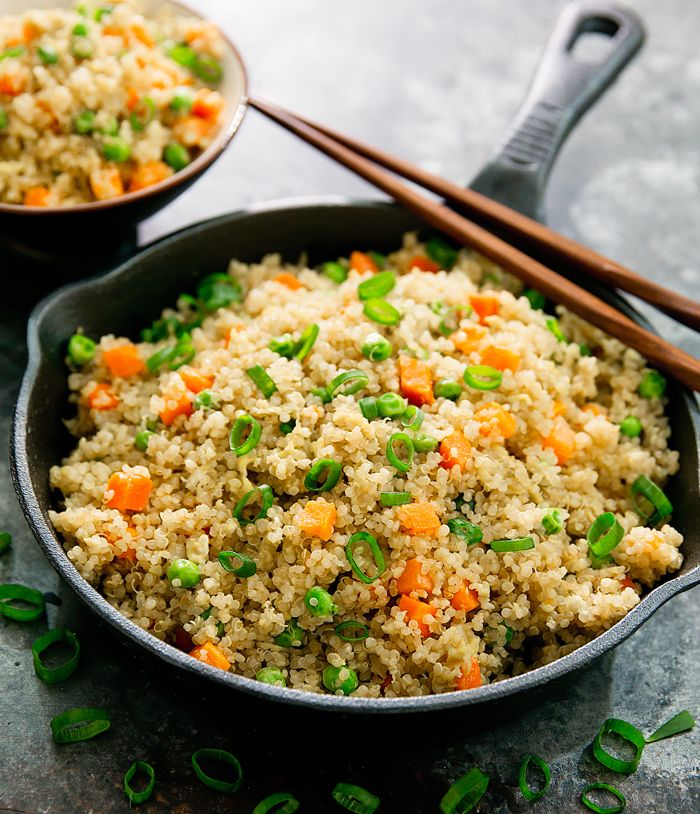 This healthier fried rice is made with quinoa instead of white rice. It's an easy, delicious and gluten free meal. And you get all the great nutritiousbenefits of eating quinoa. Quinoa is gluten-free, packed with protein, high in fiber, high in antioxidants, high in iron, magnesium, along with many other health benefits. I recently started …