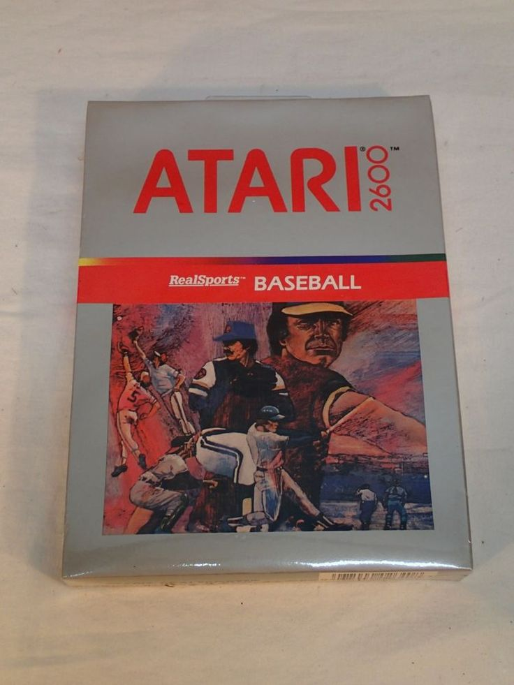 Vintage Atari 2600 RealSports Baseball, New and Sealed (1982)