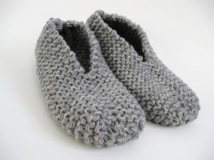 Patron gratuit de pantoufle facile au tricot • Hellocoton.fr