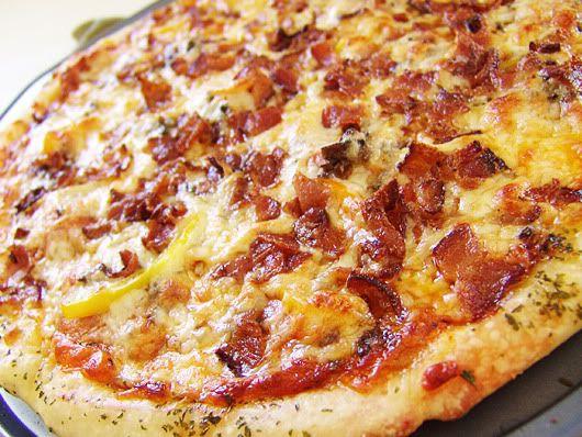 Mes recettes préférées - pixel.: Pâte à pizza croûte mince