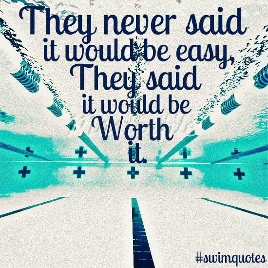 swim quotes | Swimming Quotes, They never said it would be easy they said it...