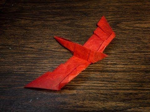 How to Make an Easy Origami Falcon Bird