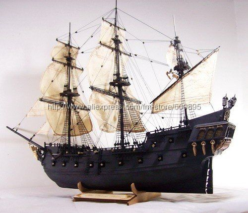 pirate ship model kits Black Pearl(Pirate of Caribbean)-in Model Building Kits from Toys & Hobbies on Aliexpress.com