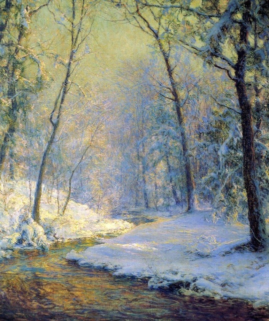 Walter Launt Palmer (American painter, 1854-1932) The Early Snow