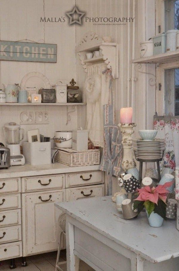 497 Best Shabby Chic Kitchens Images On Pinterest