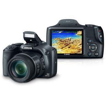 "Câmera Digital Canon Powershot Super Zoom SX530HS 16 MP Zoom óptico de 50x Tela 3"" Preta"