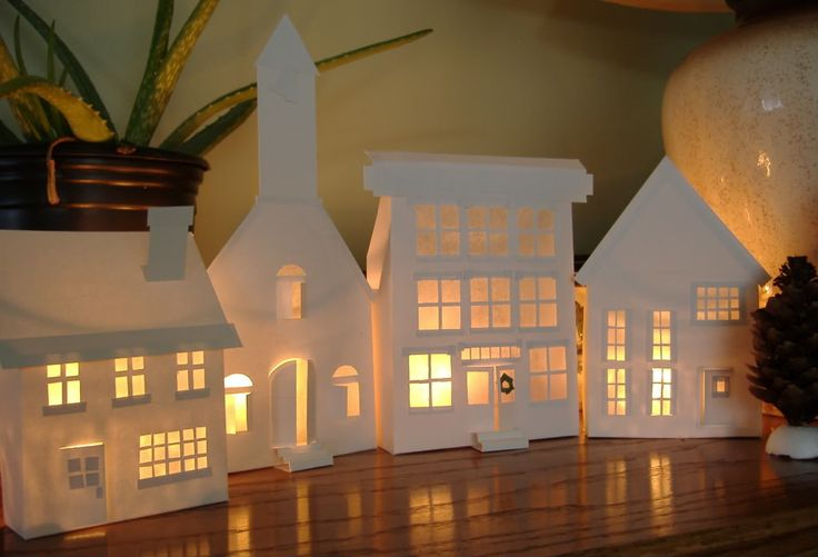 Endlessly Inspired: Holiday Spirit: DIY Paper Village