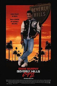 Beverly Hills Cop II is a 1987 action-comedy film starring Eddie Murphy and directed by Tony Scott. It is the first sequel in the Beverly Hills Cop series. Murphy returns as Detroit police detective Axel Foley, who returns to Beverly Hills, California to track down a joint robbery/gun-running ring. He reunites with Beverly Hills detectives Billy Rosewood  and John Taggart  to stop the gang after their friend, Captain Andrew Bogomil is shot and serious wounded by them.