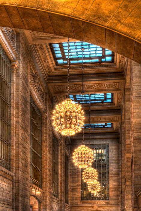Lighting Globes, Grand Central Station, NY