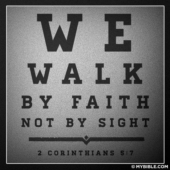 Caminamos por la fe!