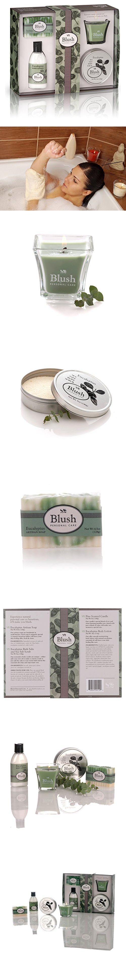 Blush Personal Care Natural Ingredients Bath and Body Gift Set for Women, Eucalyptus