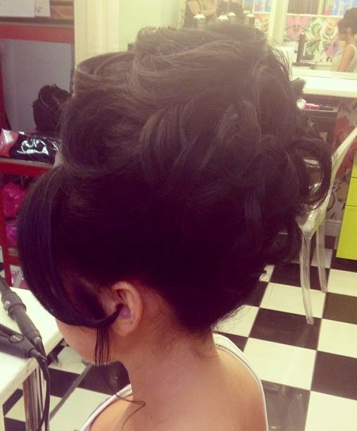 Hair by Peaches and Cream Salon in Liverpool, England.