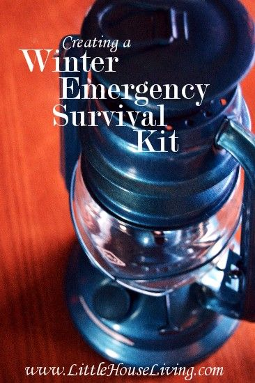Survival Tip: Stuff you need for an emergency winter survival kit.