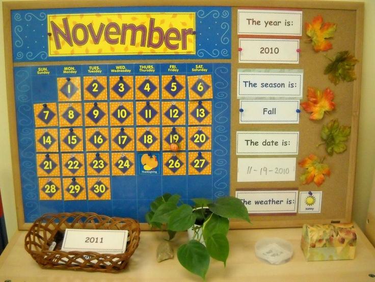 Our calendar (Trillium Montessori)