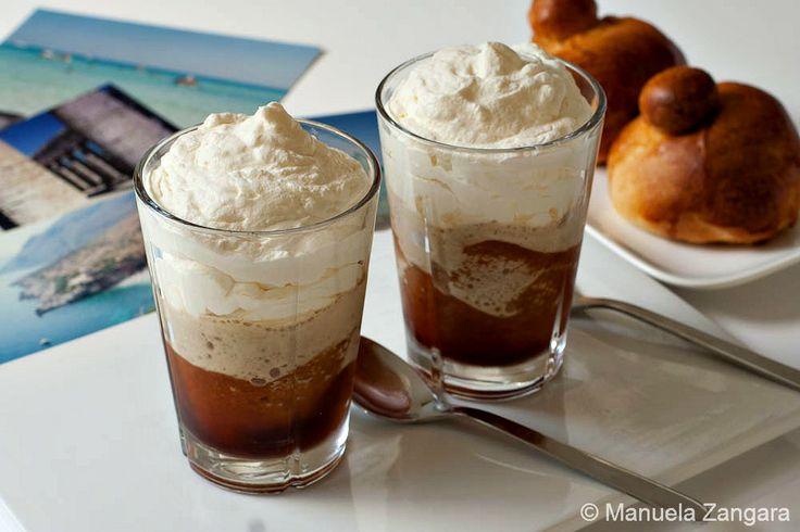 Original Coffee Granita made with espresso and whipped cream, the ...