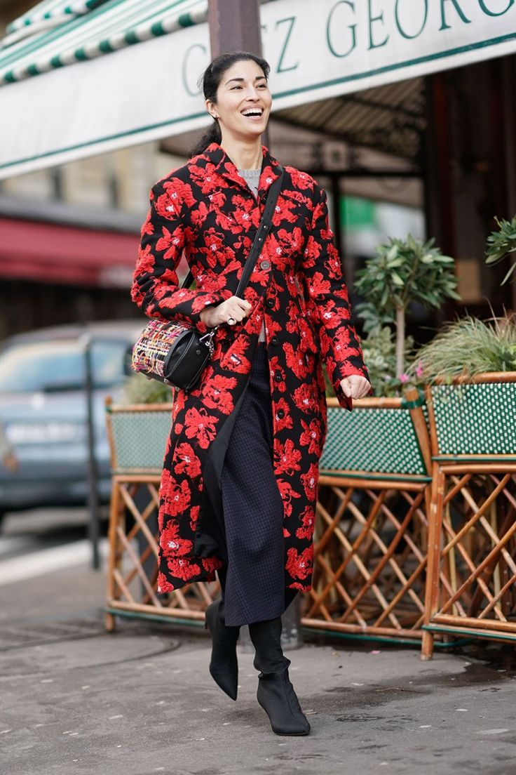 The Red Floral Coat