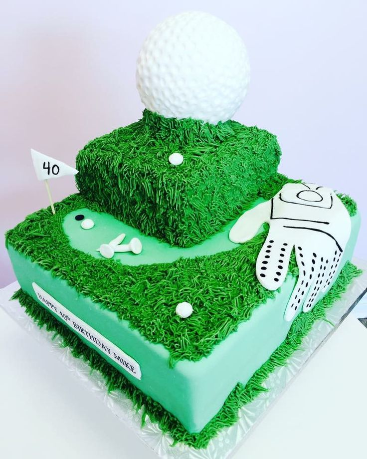 Golf Themed Custom Cake #DvasCakes