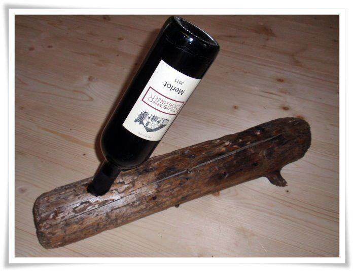Weinregale - Weinhalter aus Tiroler Treibholz - ein Designerstück von HOAMELIGundSCHEAN bei DaWanda