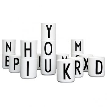 Design letters Arne Jacobsen cups,   letters: A, C, N, M, Q, X, Y, Z