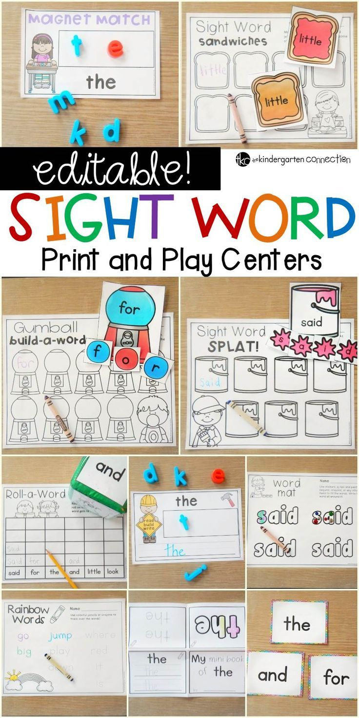 These EDITABLE sight word games and centers are a super time-saver for teachers and super-engaging for students! Instantly customize and play! #literacycenters #kindergarten #teachersfollowteachers #iteachtoo