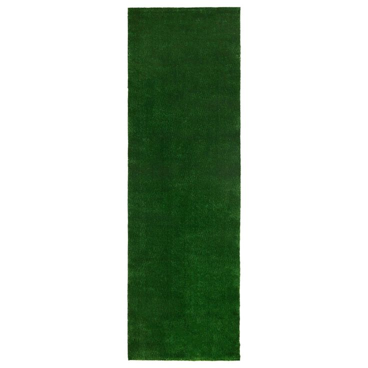 Sweethome Meadowland Collection Indoor/Outdoor Artificial Grass Rug (3'x10' - 3'x10'), Green, Size 3'x10' (Polypropylene, Solid) #MDR350-ALL