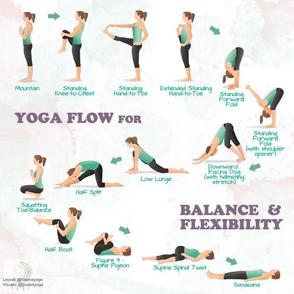 "Halona Yoga 🌙 on Instagram: ""Yoga flow for balance and flexibility 