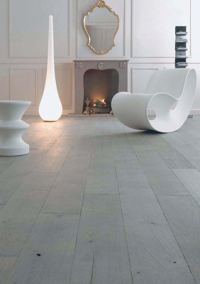 <p>Envie d'une déco contemporaine? Rien de plus simple avec ce parquet massif couleur cendre. Disposez des meubles et accessoires blancs et le tour est joué.</p> <p>Design Parquet</p>