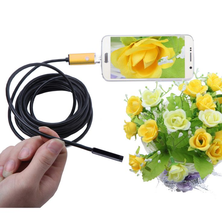 2 In 1 5.5mm 6-LED Android & PC Endoscope - Golden (5m) - Free Shipping - DealExtreme
