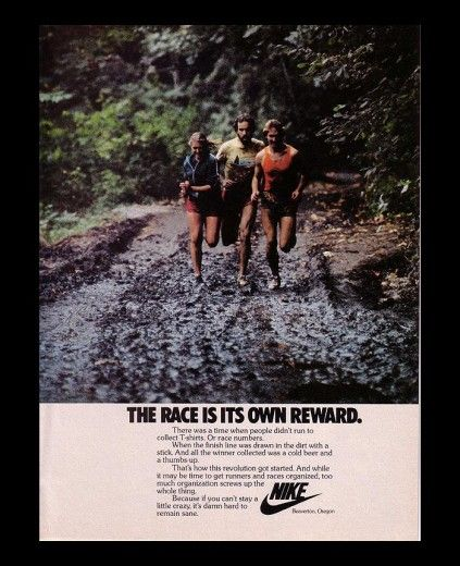 Vintage Nike ad for running | Nike Ads | Pinterest