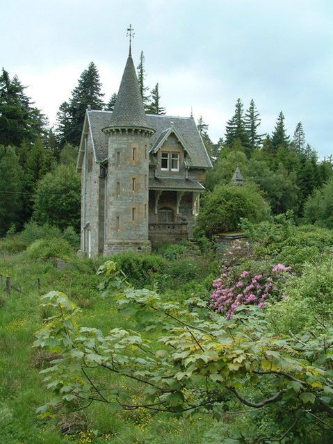 A castle-looking home this one is Ardverikie Estate gate house, Scotland