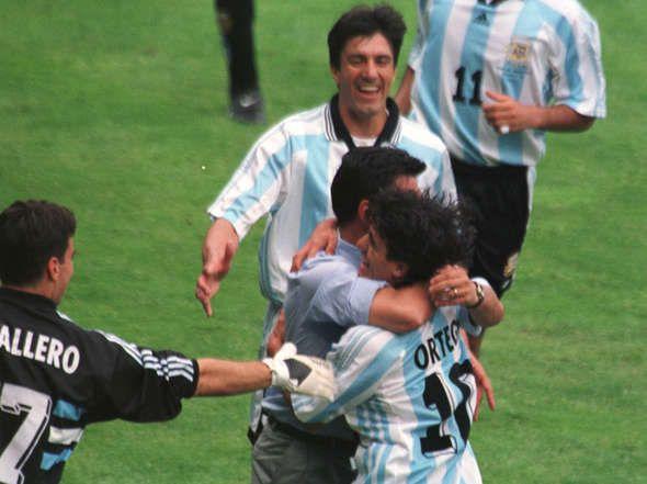 Argentina vs. Jamaica en el Mundial 1998.