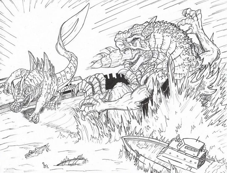 king ghidorah coloring pages | fantasy coloring page | pinterest - Printable Godzilla Coloring Pages