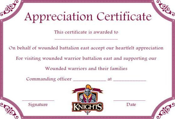 10 Superb Knights Of Columbus Certificate Templates For Appreciation Template Sumo In 2021 Certificate Templates Knights Of Columbus Templates