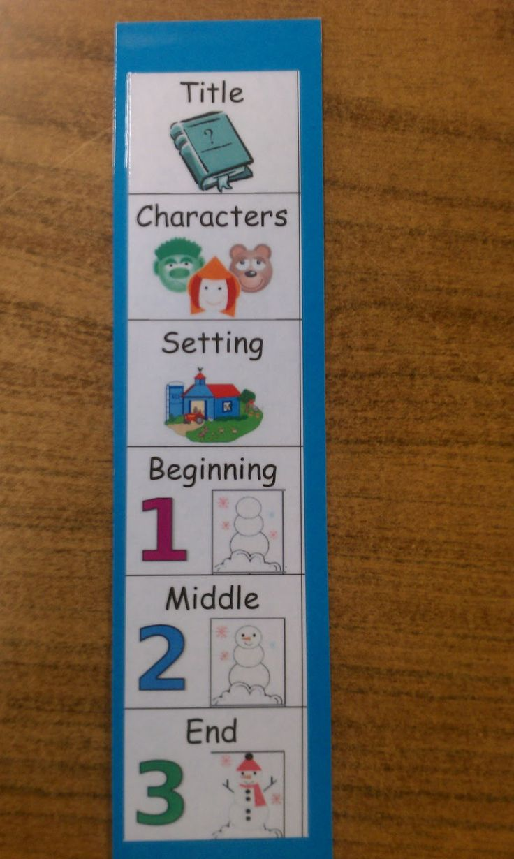 Hanging Out In First!!: Retell Bookmarks