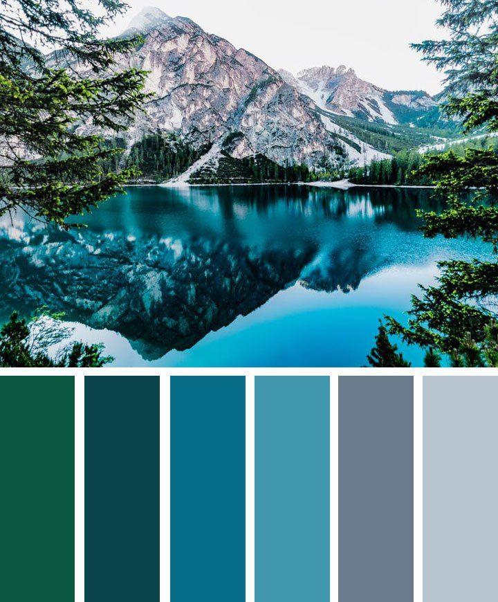 green blue and grey landscape color inspiration #color #palette