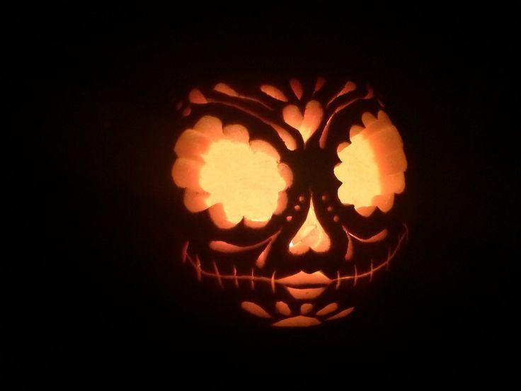 Best ideas about sugar skull pumpkin on pinterest