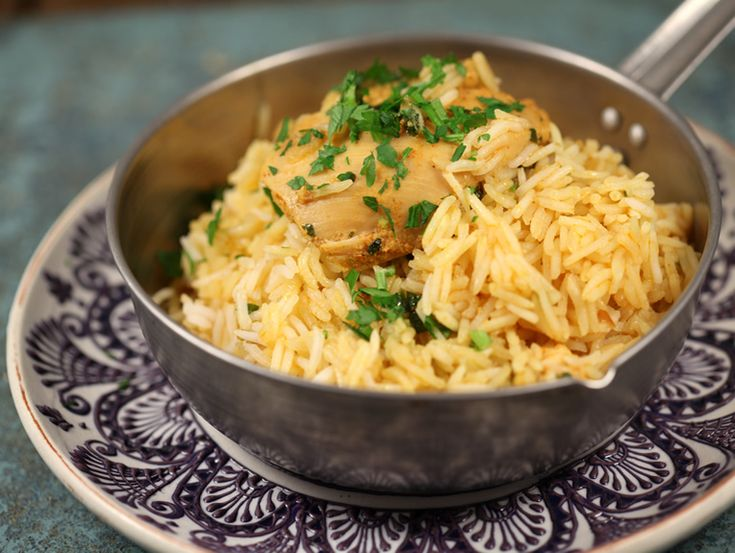 Pilaf de orez cu pui in stil indian