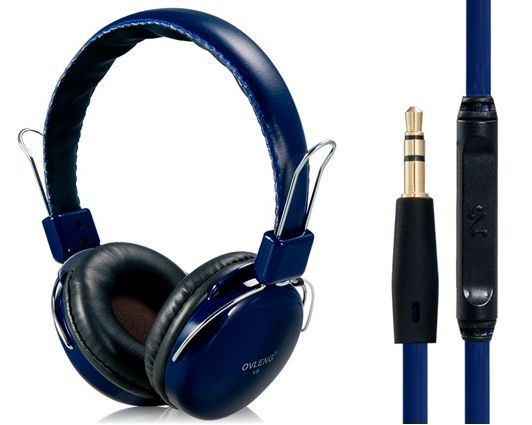 OVLENG V9 3.5mm Plug Stereo Headphones With Microphone,1.2 m Cable (Dark Blue) Free shipping Price:$18.99 Retail Price: $30.00 You Save: $11.01 (37%)  http://ow.ly/M36kI