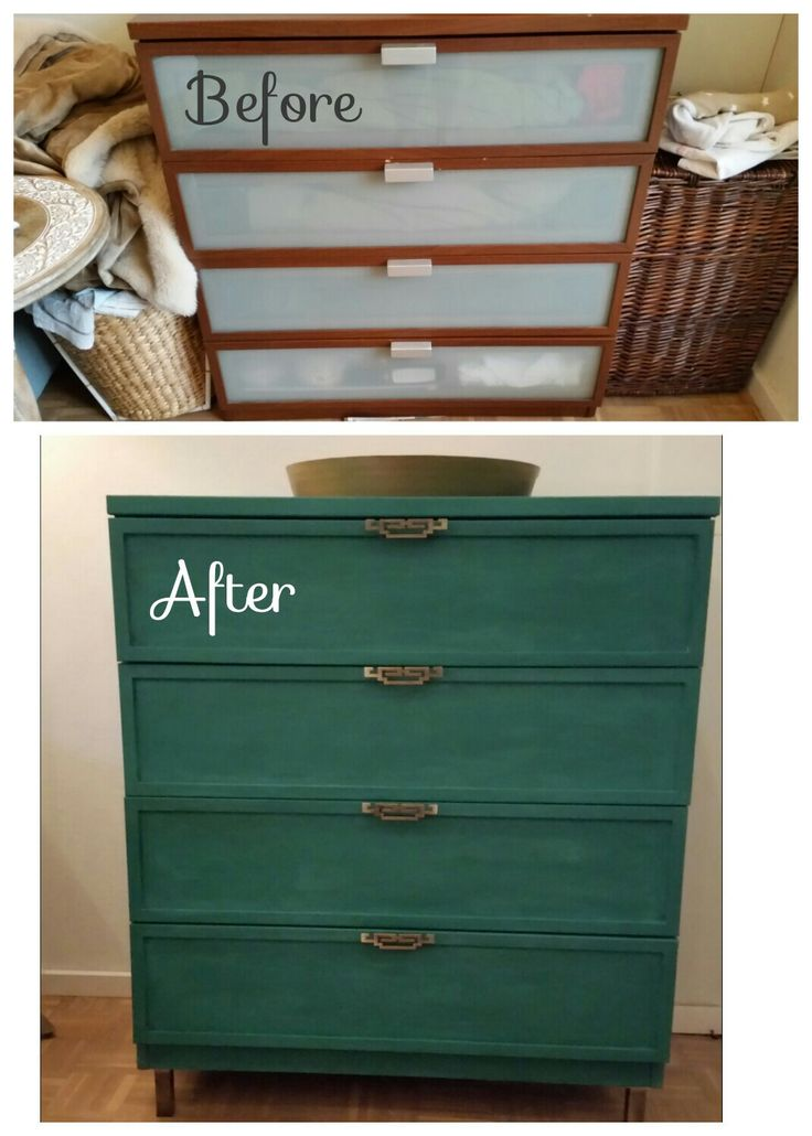 Transformation from ikea hopen to chinoiserie dresser for Diy chalk paint problems