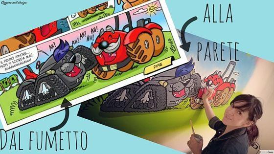 Caggese Art Design Creazioni artistiche: Dal fumetto alla parete, ecco come ho realizzato i...