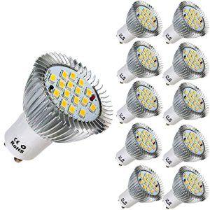 KINGSO10X GU10 7W 640LM 16smd 5630 16 LEDs Spot Lumière Ampoule Lampe 85-265V Blanc Chaud
